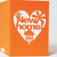 New Home Congratulations Cut Out Greetings Card
