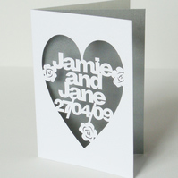 Personalised Hand Cut Any Occasion Card