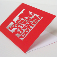 I Love You More Than Coffee Red Greetings Card