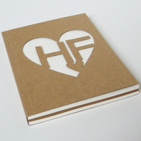 Hand Cut Personalised Notebook Small Size
