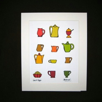 Love a Cuppa autumn - limited edition print