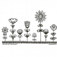 How Does your Garden Grow? original ink drawing