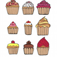 Love Cupcakes - limited edition print