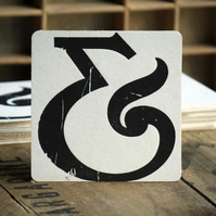 Letterpress Ampersand Coasters