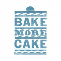 Bake More Cake Letterpress Print
