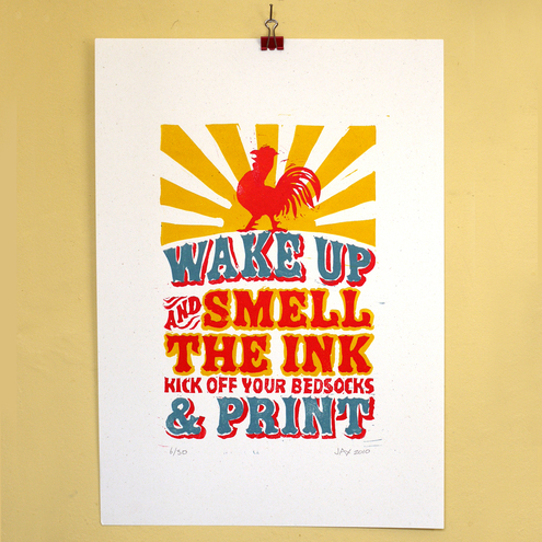 Letterpress Linoprint Poster (2nd edition)