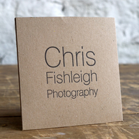 Bespoke Letterpress Single White or kraft CD Cases