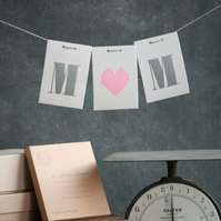 Mother's Day Letterpress Love Letter card