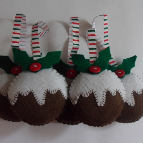 Christmas pudding christmas decoration.