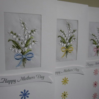 Mother's Day Card with Cotton Handkerchief