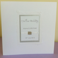 On Your Wedding - Personalised Wedding Card