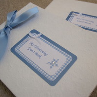 Handmade Christening or Baptism Guest Book