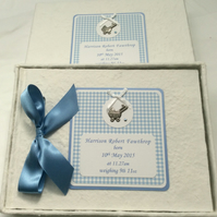 Handmade New Baby Personalised Guest Book