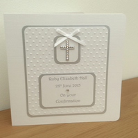 Gorgeous Personalised Confirmation Card