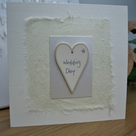 Beautiful Handmade Wedding Card