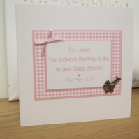 Personalised Baby Shower Card for Mum to Be