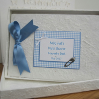 Handmade Personalised Baby Shower Personalised Keepsake Book