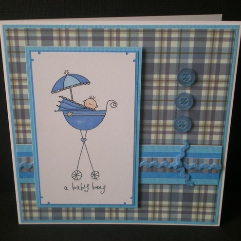 baby boy new baby card