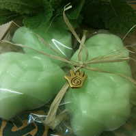 Refreshing Handmade Green Tea & Peppermint Essential Oil Celtic Guest Soaps