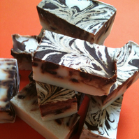 Mint Chocolate Swirl Soap