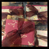 Rich Chocolate Brownie Soap with Cocoa Butter Unscented for Sensitive Skin