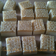 Goats Milk, Honey & Oatmeal Soap with Sweet Orange Essential Oil
