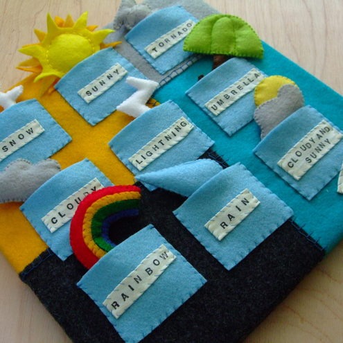 Childrens weather felt activity set