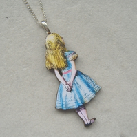 Alice in Wonderland Looking Away Necklace