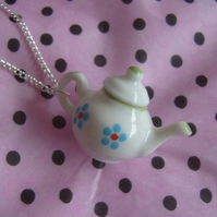 White Teapot Necklace