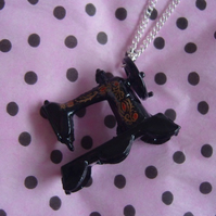 Black Sewing Machine Necklace