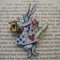 Alice In wonderland White Rabbit Brooch