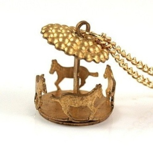 Whimsical Carousel Necklace