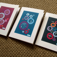set of 6 cards - circle series