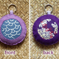 soft keyring - purple a