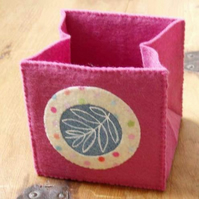 fabric box - rose