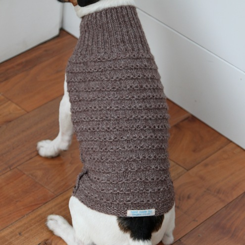 Hand Knitted Patterns For Dog And Cats Coats : hand knitted dog coat - Folksy