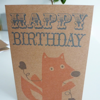 Pack of 3 Foxy in Mittens Birthday Cards