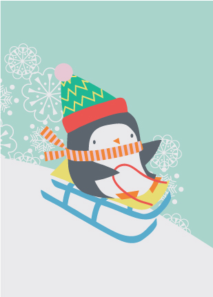 Happy Christmas Penguin Card