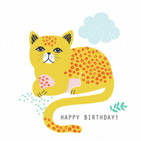 MAUDE THE CAT Birthday Card
