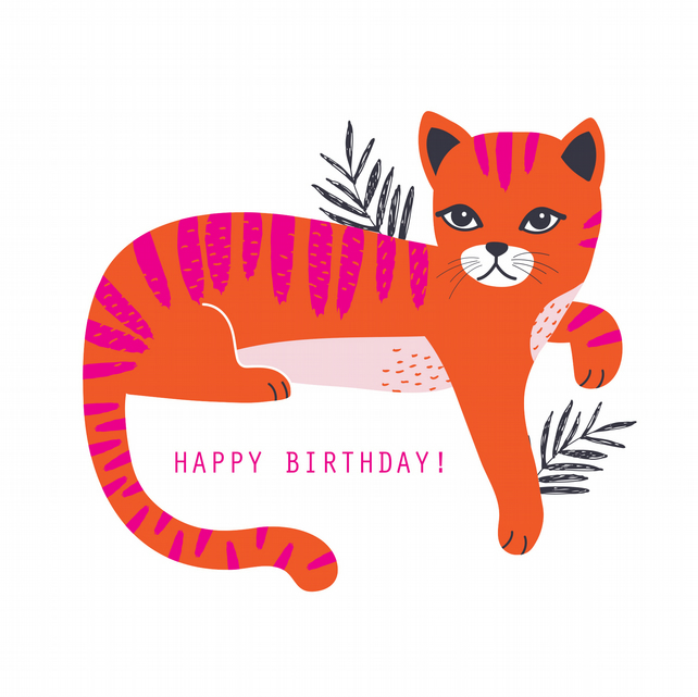 BUSTER THE CAT Birthday Card