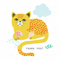 MAUDE THE CAT Thank You Card Pack x 6