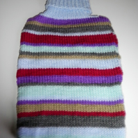 Stripey Hot Water Bottle Cover/Cosy