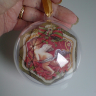 3d Christmas Bauble - Cherub