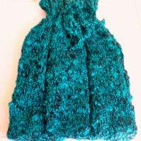 Hot Water Bottle cover/cosy - hand knitted - wool