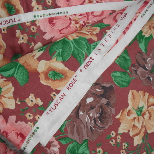 395cm piece vintage 1980s Next floral furnishing fabric