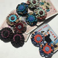 Fabric flower hair clips- pick a pair