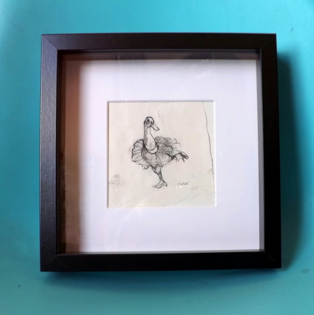 Duck Dance - Original Monoprint - Duck