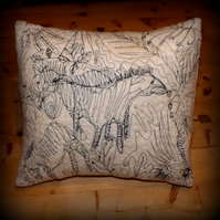 Three and a Half Zebras - Felted and Machine embroidered Cushion