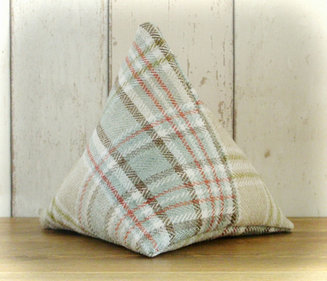 Shades of Green Tartan Doorstop