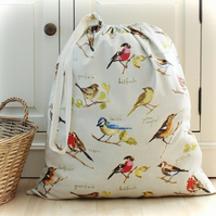 Garden Birds Laundry Bag